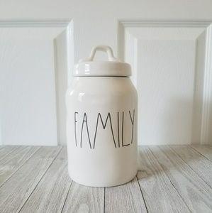Rae Dunn FAMILY Canister Jar